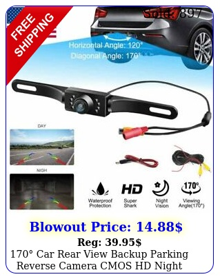 car rear view backup parking reverse camera cmos hd night vision waterproo