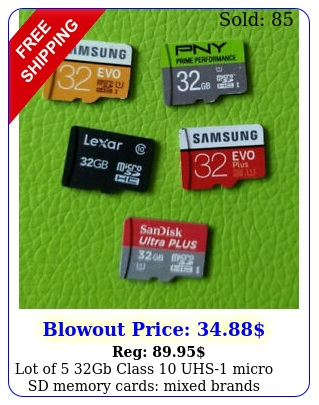 lot of gb class uhs micro sd memory cards mixed brands sandisk micros