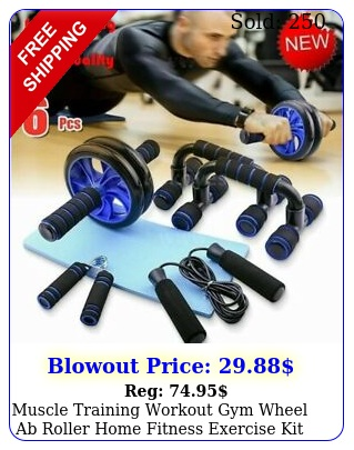 muscle training workout gym wheel ab roller home fitness exercise kit fast shi