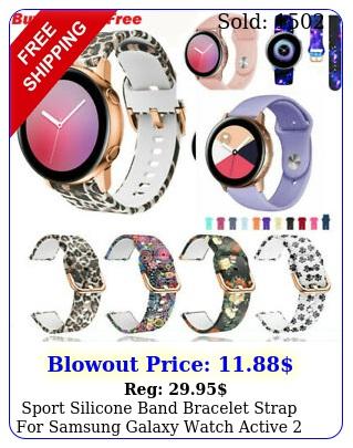 sport silicone band bracelet strap samsung galaxy watch active  m