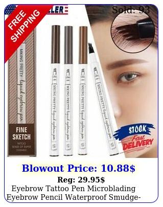 eyebrow tattoo pen microblading eyebrow pencil waterproof smudgeproof ink pe