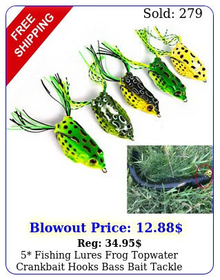 fishing lures frog topwater crankbait hooks bass bait tackle fast shippin