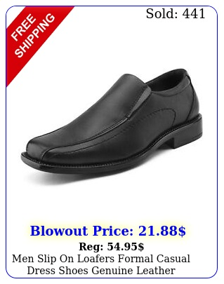 men slip on loafers formal casual dress shoes genuine leather oxfords shoe
