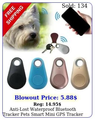 antilost waterproof bluetooth tracker pets smart mini gps tracker wallet ba