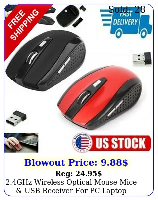 ghz wireless optical mouse mice usb receiver pc laptop computer dpi us