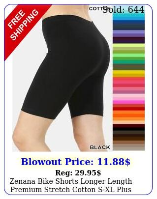 zenana bike shorts longer length premium stretch cotton sxl plus size x x