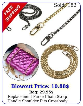 replacement purse chain strap handle shoulder fits crossbody handbag bag meta