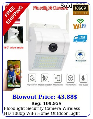 floodlight security camera wireless hd p wifi home outdoor light color nigh