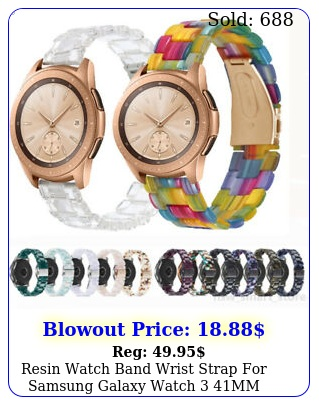 resin watch band wrist strap samsung galaxy watch mm active  m