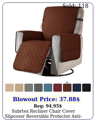 subrtex recliner chair cover slipcover reversible protector antislip sofa sof