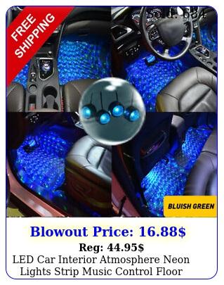 led car interior atmosphere neon lights strip music control floor decor light e