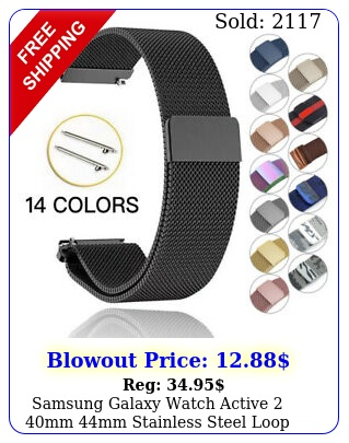 samsung galaxy watch active mm mm stainless steel loop milanese band stra