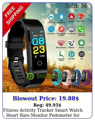 fitness activity tracker smart watch heart rate monitor pedometer women me