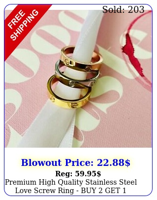 premium high quality stainless steel love screw ring buy get fre