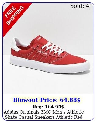 adidas originals mc mens athletic skate casual sneakers athletic red shoe