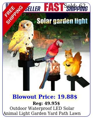 outdoor waterproof led solar animal light garden yard path lawn decor resin lam
