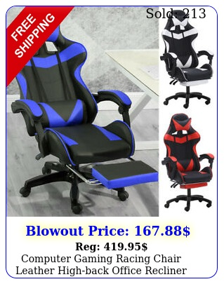 computer gaming racing chair leather highback office recliner desk seat swive