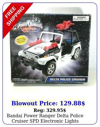 bandai power ranger delta police cruiser spd electronic lights sound