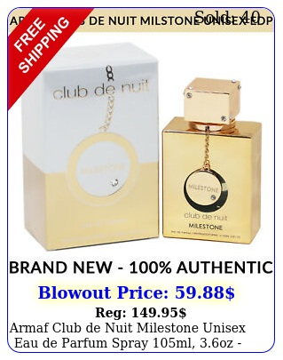 armaf club de nuit milestone unisex eau de parfum spray ml oz brand ne