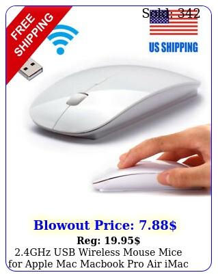 ghz usb wireless mouse mice apple mac macbook pro air imac pc whit