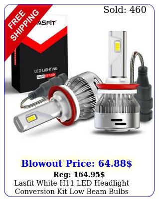 lasfit white h led headlight conversion kit low beam bulbs super bright l