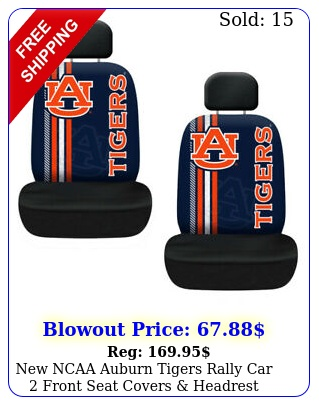 ncaa auburn tigers rally car front seat covers headrest covers se