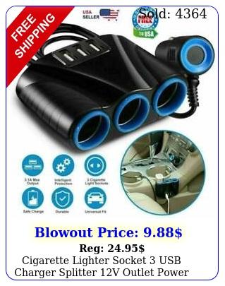 cigarette lighter socket usb charger splitter v outlet power adapter ca
