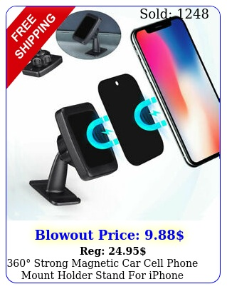 strong magnetic car cell phone mount holder stand iphone samsung gp