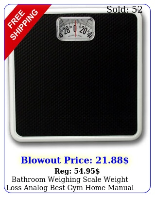 bathroom weighing scale weight loss analog best gym home manual dial lb