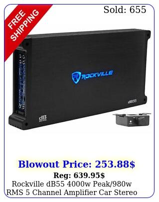 rockville db w peakw rms channel amplifier car stereo amp lou