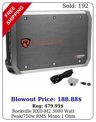 rockville rxdm watt peakw rms mono ohm amplifier car audio am