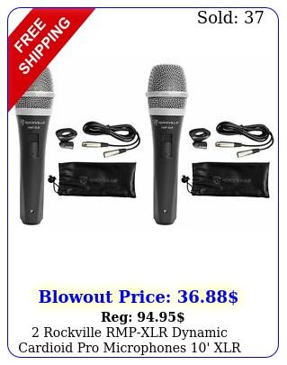 rockville rmpxlr dynamic cardioid pro microphones  ' xlr cables clip