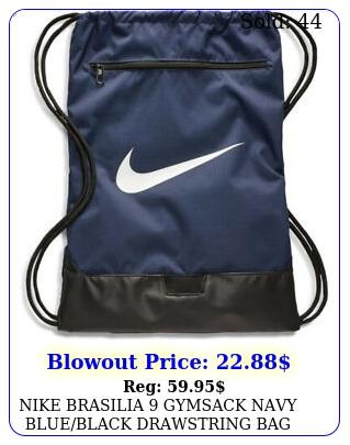 nike brasilia gymsack navy blueblack drawstring bag backpack gym sack b