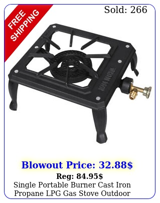 single portable burner cast iron propane lpg gas stove outdoor camping cooke