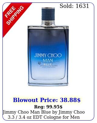 jimmy choo man blue by jimmy choo  oz edt cologne men teste