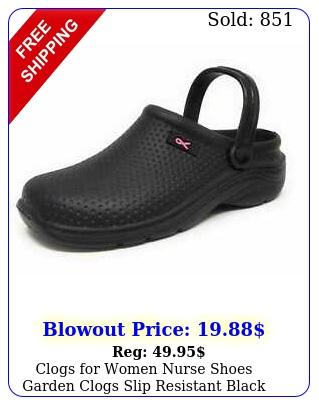 clogs women nurse shoes garden clogs slip resistant black honeycomb clog