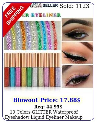 colors glitter waterproof eyeshadow liquid eyeliner makeup shimmer metalli