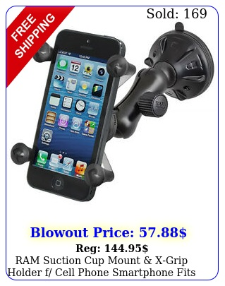 ram suction cup mount xgrip holder f cell phone smartphone fits w otterbo