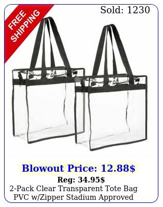 pack clear transparent tote bag pvc wzipper stadium approved should handba