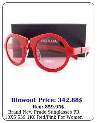 brand prada sunglasses pr xs k redpink wome