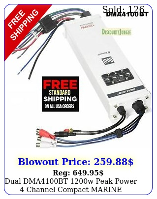 dual dmabt w peak power channel compact marine amplifier bluetoot