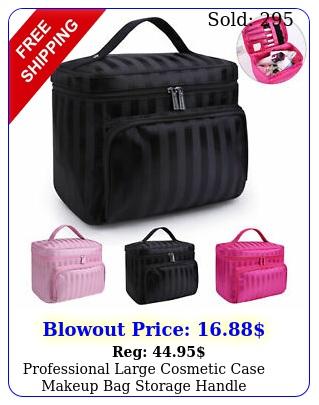 professional large cosmetic case makeup bag storage handle organizer travel ki