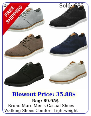 bruno marc men's casual shoes walking shoes comfort lightweight lace up sneaker