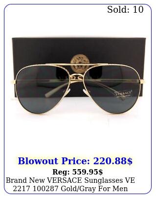 brand versace sunglasses ve  goldgray me