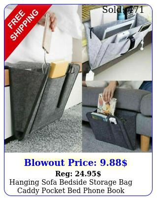 hanging sofa bedside storage bag caddy pocket bed phone book holder organizer u