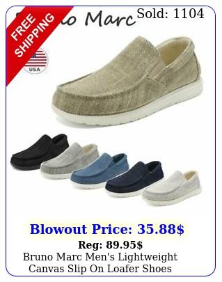 bruno marc men's lightweight canvas slip on loafer shoes moccasins walking shoe
