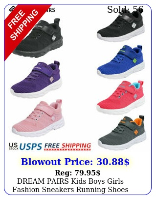 dream pairs kids boys girls fashion sneakers running shoes knit athletic shoe