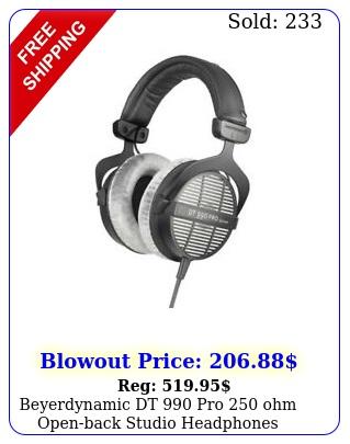 beyerdynamic dt pro ohm openback studio headphone