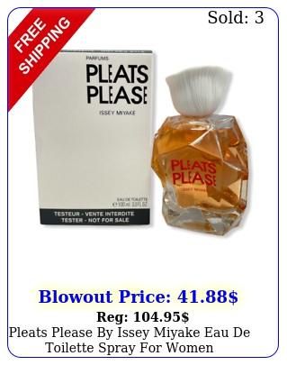 pleats please by issey miyake eau de toilette spray women mlo
