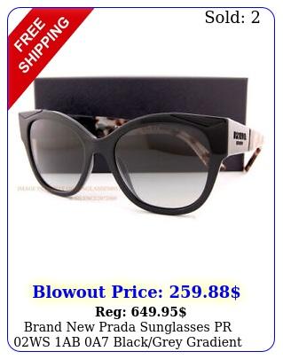 brand prada sunglasses pr ws ab a blackgrey gradient wome